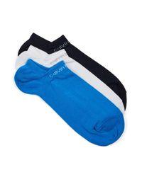 Calvin Klein | Blue Assorted Colour Socks 3 Pack for Men | Lyst