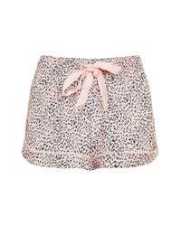 TOPSHOP   Multicolor Leopard Print Pyjama Shorts   Lyst