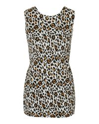 TOPSHOP | Multicolor Animal Print Twist Back Top | Lyst