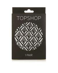 TOPSHOP   Black Diamond Lace Tights   Lyst