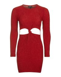 TOPSHOP | Multicolor Knot Front Tunic Dress | Lyst