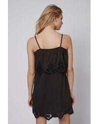 TOPSHOP - Black Strappy Bardot Sundress - Lyst