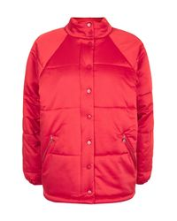 TOPSHOP   Red Oversized Puffer Jacket   Lyst