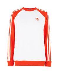 TOPSHOP   Red Colour Block Sweatshirt By Adidas Originals   Lyst