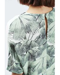 TOPSHOP | Green Oversized Mix Palm Print Tee | Lyst