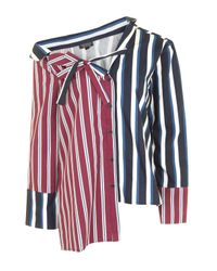 TOPSHOP | Multicolor Stripe Re-worked Shirt | Lyst
