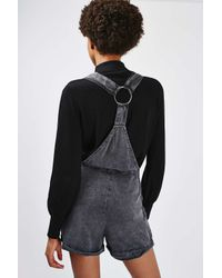 TOPSHOP - Multicolor Wash Ringback Dungaree - Lyst
