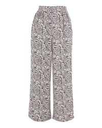 TOPSHOP - Purple Jacquard Pull On Trousers - Lyst