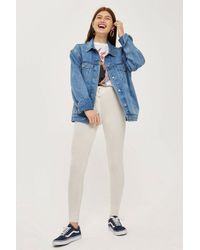 TOPSHOP - Multicolor Brushed Skinny Joggers - Lyst