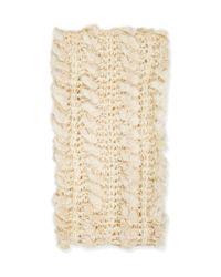 TOPSHOP | Natural Fur Knit Snood | Lyst