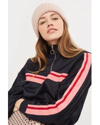 TOPSHOP - Pink Turn Up Beanie - Lyst
