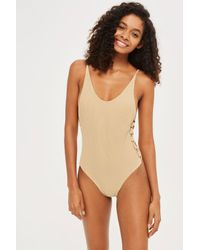 Flook - Natural Sofia Crochet Side Swimsuit By Flook - Lyst