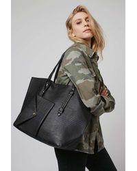 TOPSHOP - Black Large Smart Shoulder Bag - Lyst