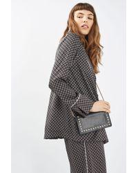 TOPSHOP | Black Orla Studded Crossbody Bag | Lyst