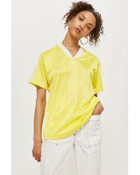 adidas Originals Fashion League Womens Tee in Yellow - Lyst 83319badb3c35