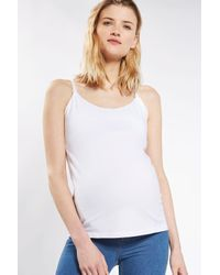 TOPSHOP - White Maternity Nursing Camisole Top - Lyst