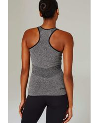 Ivy Park - Gray Seamless Racer Tank Top By - Lyst