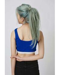 TOPSHOP - Blue Petite Rib Elastic Bralet - Lyst