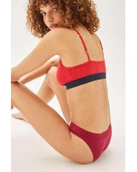 Tommy Hilfiger - Red Bikini Knickers By - Lyst