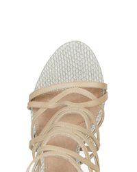 TOPSHOP - Natural Rascal Skinny Sandals - Lyst