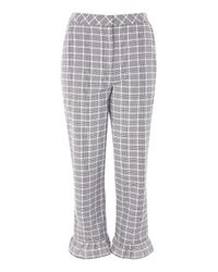 TOPSHOP - Gray Slim Fit Check Trousers - Lyst