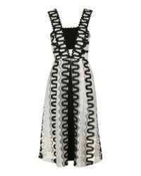 TOPSHOP | Black Rick Rack Detailed Midi Dress | Lyst