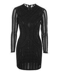 TOPSHOP - Black Sheer Bodycon Dress - Lyst