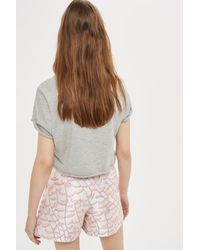 TOPSHOP | Multicolor Jacquard Shorts | Lyst