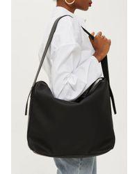 TOPSHOP - Black Heidi Slouchy Hobo Bag - Lyst