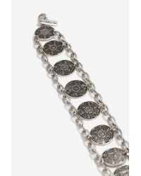 TOPSHOP - Metallic Coin Bracelet - Lyst