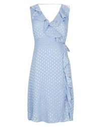 TOPSHOP | Blue Maternity Ruffle Spot Dress | Lyst