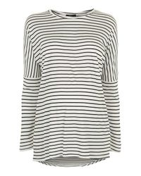 TOPSHOP | Black Maternity Slouch Stripe Top | Lyst
