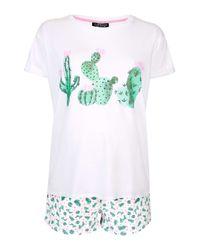 TOPSHOP   Pink Maternity Cactus Heart Pyjama Set   Lyst