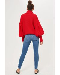 TOPSHOP - Tall Mid Blue Leigh Jeans - Lyst