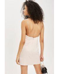 TOPSHOP - Multicolor Diamante Strap Mini Slip Dress - Lyst