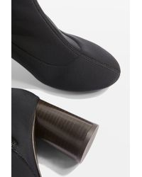 TOPSHOP - Black Match Sock Boots - Lyst