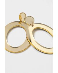 TOPSHOP - Metallic Mirrored Oval Cut-out Earrings - Lyst