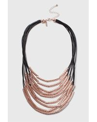 TOPSHOP | Black Textured Tube Multirow Collar | Lyst
