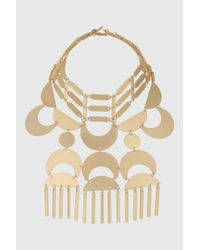 TOPSHOP | Metallic Statement Stick Drop Choker Necklace | Lyst