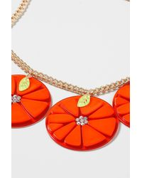 TOPSHOP | Oversized Orange Necklace | Lyst