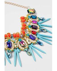 TOPSHOP - Multicolor Mega Carnival Stick Collar - Lyst