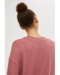 TOPSHOP - Pink Rose Supersoft Sweat Top - Lyst