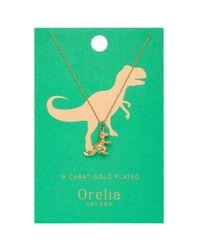 Orelia | Metallic Lucky Dino Ditsy Necklace By | Lyst
