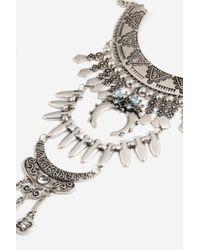 TOPSHOP - Metallic Mega Collar Necklace - Lyst