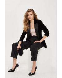 TOPSHOP - Black Mensy Trousers - Lyst