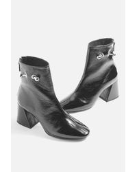 TOPSHOP - Black Mighty Ankle Boots - Lyst