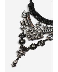 TOPSHOP | Multicolor Rhinestone Drop Choker Necklace | Lyst