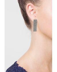 TOPSHOP - Multicolor Square Rhinestone Earrings - Lyst