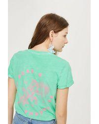 TOPSHOP - Green Rose & Thorns T-shirt - Lyst