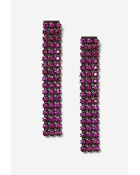 TOPSHOP - Pink Rhinestone Drop Earrings - Lyst